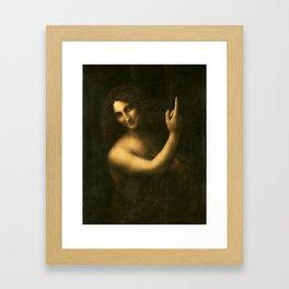 Leonardo da Vinci - Saint John the Baptist Framed Art Print