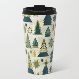 christmas trees gold Travel Mug