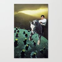 horses Canvas Prints featuring horses by Hugo Barros
