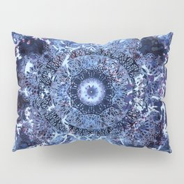 Iris Mandala Blue Pillow Sham