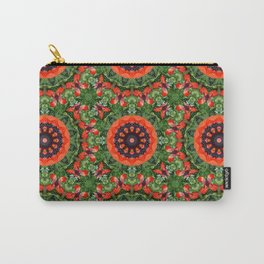 Floral mandala-style, Poppies 006.6 Carry-All Pouch