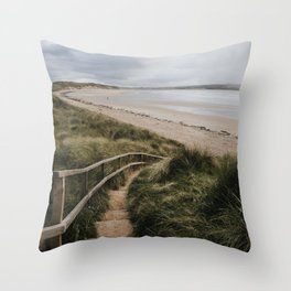 A day at the beach - Landscape and Nature Photography Throw Pillow
