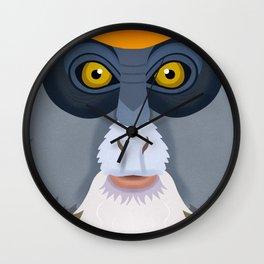 De Brazza's Monkey Wall Clock