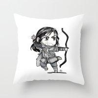 kili Throw Pillows featuring Kili Chibi by KuroCyou
