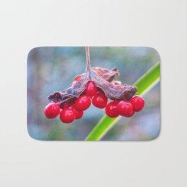Last of The Winter Berries Bath Mat