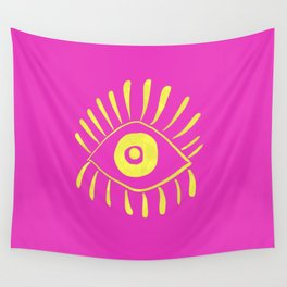 Vision Yellow Wall Tapestry