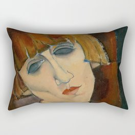 "Amedeo Modigliani ""Madame Kisling""(1917) Rectangular Pillow"