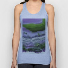 Purple and Green Agate Unisex Tank Top