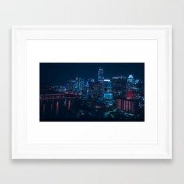 Austin Skyline from Rainey St Framed Art Print