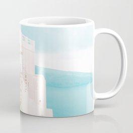 Santorini Greece Blue Door Cozy Photography Coffee Mug