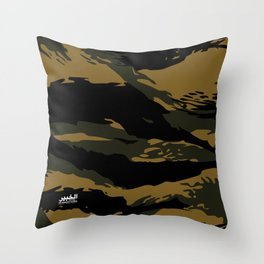 Green Tiger Camouflage Throw Pillow
