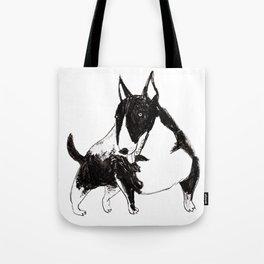 Miniature Bull Terrier Tote Bag