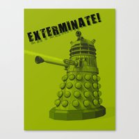 dalek Canvas Prints featuring Dalek by Digital Arts & Crafts by eXistenZ