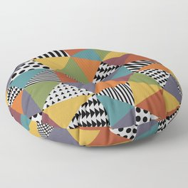 Colorful Geometry Floor Pillow