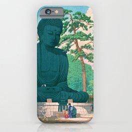 KAMAKURA DAIBUTSU - Kawase Hasui iPhone Case