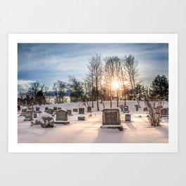Blossom Hill in Winter Art Print