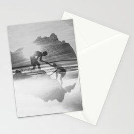 Friendship Mountain Black and White Surreal Nature Stationery Cards