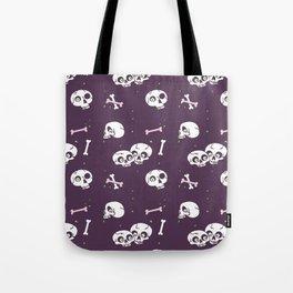 Skully in purple Tote Bag