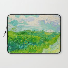 Field with Green Wheat 1890 Oil Painting By Vincent Van Gogh Laptop Sleeve