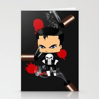 punisher Stationery Cards featuring Chibi Punisher by artwaste
