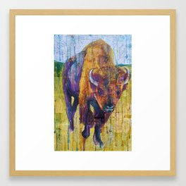 Buffalo in Purple Framed Art Print