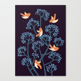 Birds Are singing Canvas Print