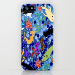 Happy Sharks iPhone Case