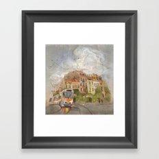 Cloudy City Framed Art Print