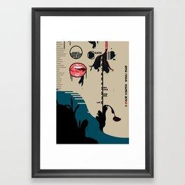 Love until you die Framed Art Print