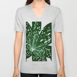 Lily Infrared In Green Unisex V-Neck