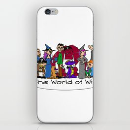 The Cast of The World of Witt iPhone Skin