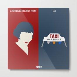 Amélie Poulain VS Taxi (Paris VS Marseille) Metal Print