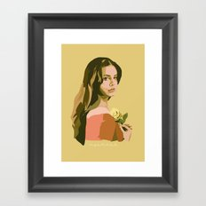 Lana with Rose Framed Art Print