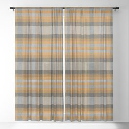 The Great Class of 1986 Jacket Plaid Sheer Curtain