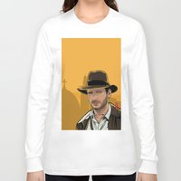 indiana jones Long Sleeve T-shirts featuring Indiana by Akyanyme