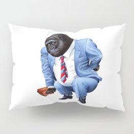 A gorilla tired from business Pillow Sham
