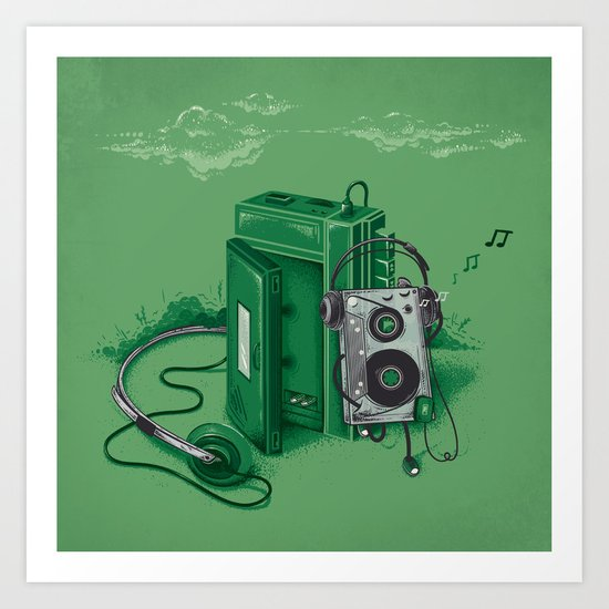 Music Break Art Print