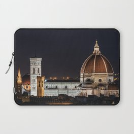 Night image of the Florence Cathedral Laptop Sleeve