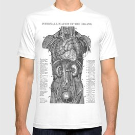Location of Internal Organs in the Human Body T-shirt