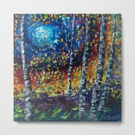 Moonlight Sonata with a Palette Knife Metal Print