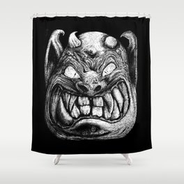 Monster Face 003 Shower Curtain