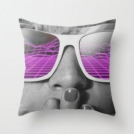 80s Girl Throw Pillow