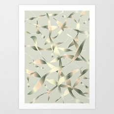 Silver Light Buds Art Print