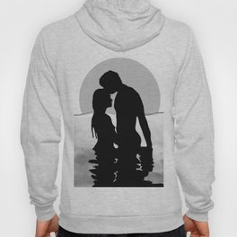 Lovers Black and White Hoody