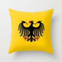 german Throw Pillows featuring German Eagle by Richard Fay