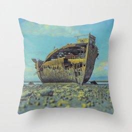Shipwreck IV Throw Pillow