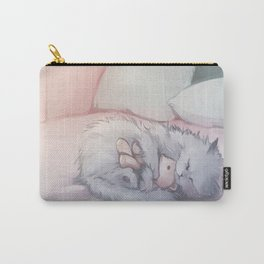 Kitty Sleeping with Bear Friend Carry-All Pouch