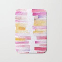 8 | 181101 Watercolour Palette Abstract Art | Lines | Stripes | Bath Mat