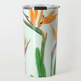 bird of paradise flower painting Travel Mug