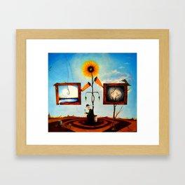 Sunflower Farmer Framed Art Print
